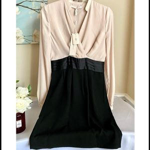 NWT Halston Heritage Black/Champagne Dress Size 2